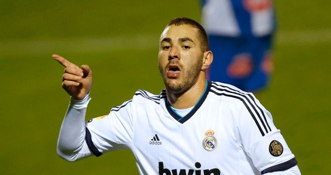 Karim Benzema: Celebrates goal for Real