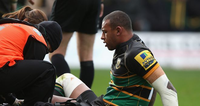 Courtney Lawes: injured in the first half of the 16-6 defeat to Saracens at Franklin's Gardens