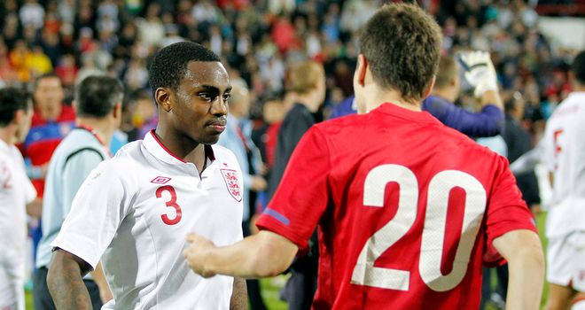 Serbia U21 midfielder Nikola Ninkovic (right) has pointed the finger at Danny Rose as hostilities continue