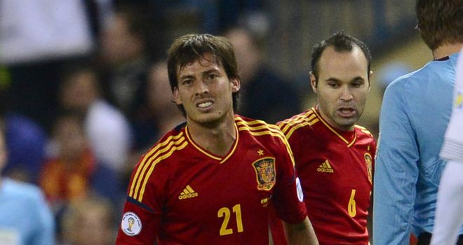 David Silva: Manchester City playmaker suffered a muscle injury for Spain against France