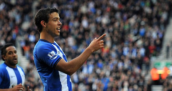 Wigan boss Roberto Martinez has described striker Franco Di Santo as a 'top player' following news of his maiden Argentina call-up.