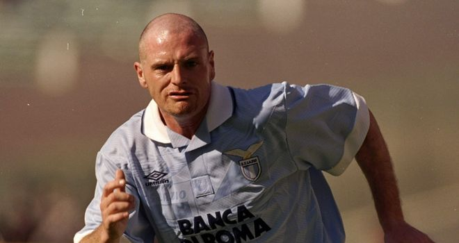 Paul Gascoigne during his Lazio days