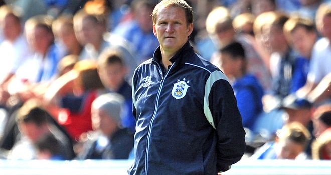 Simon Grayson: The Huddersfield boss is reunited with Leeds