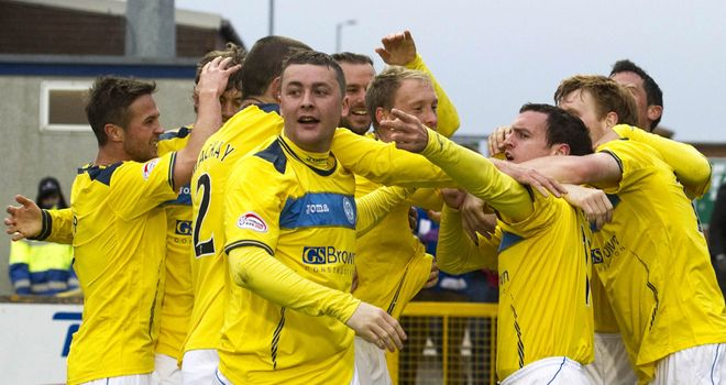 Robertson celebrating rare goal for St Johnstone