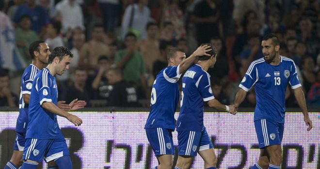 Israel players celebrate comfortable Luxembourg win