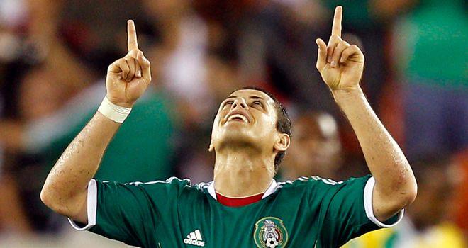 Javier Hernandez: On target for Mexico in the 2-0 win over El Salvador