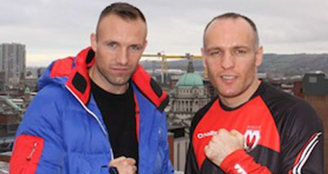 Brian Magee (right) takes on overwhelming favourite  Mikkel Kessler in Denmark