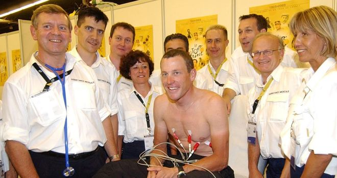 Armstrong: Donated money for blood analyser