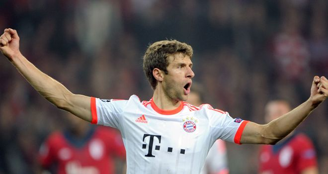 Thomas Muller: Netted the crucial goal for Bayern Munich against Lille
