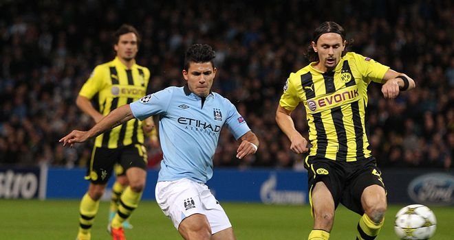 Neven Subotic in action against Manchester City earlier this season