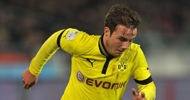 Mario Gotze: Scored a hat-trick as Borussia Dortmund hammered Hannover on the cup