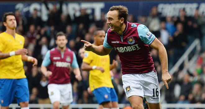 Mark Noble: Has hailed the young players coming through at West Ham