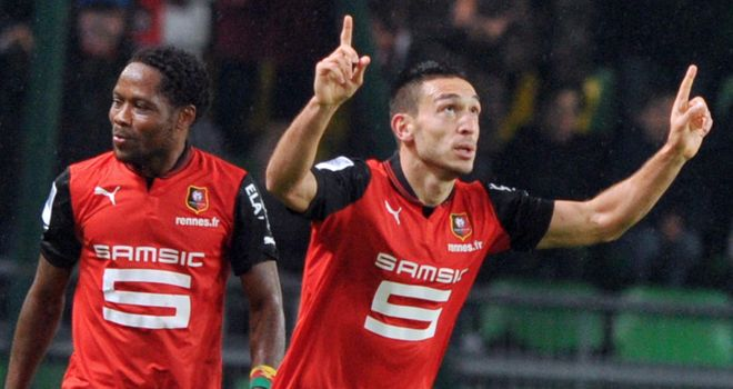 Mevlut Erding was on the scoresheet for Rennes.