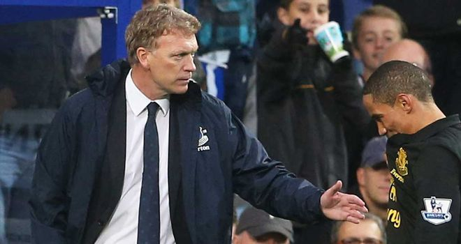 David Moyes: Everton manager was not pleased with the referee