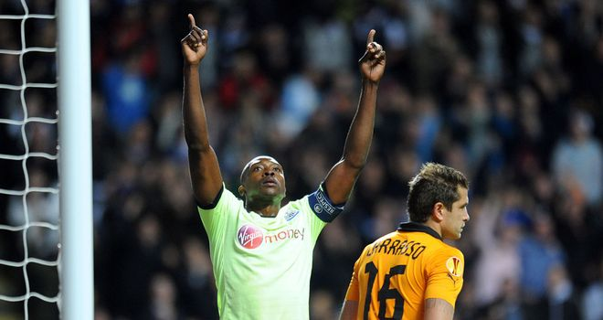 Shola Ameobi opened the scoring after good work from Gabriel Obertan