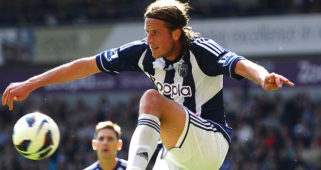 Jonas Olsson: hoping to help the Baggies maintain their position in the top four