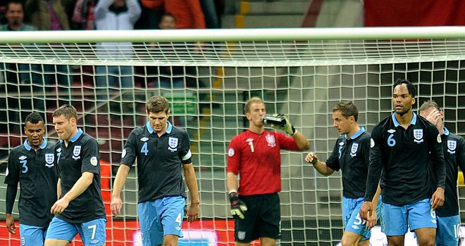 Making a point: England could only manage a draw against Poland