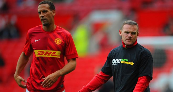 Rio Ferdinand was one of many players not to wear a Kick It Out T-shirt on Saturday