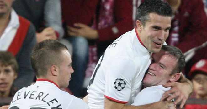 Deadly duo: Robin van Persie twice netted from Wayne Rooney assists for United
