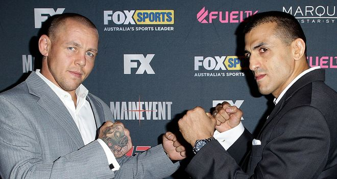 Ross Pearson and George Sotiropoulos: Battling for victory in The Smashes