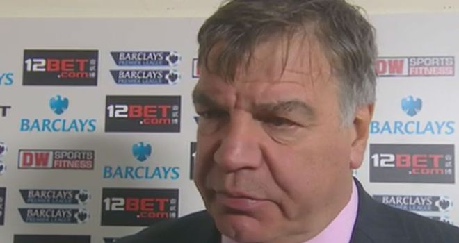 Sam Allardyce: Felt his players were careless in possession of the ball