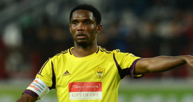 Samuel Eto'o: Has reopened the rift with Cameroon team-mate Song