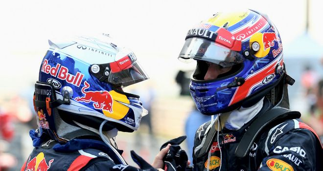 The two Red Bull drivers will continue to race each other
