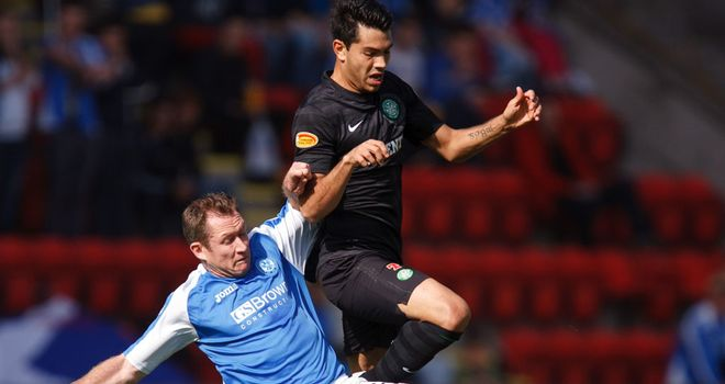 Frazer Wright: Has helped St Johnstone to a record five successive SPL victories