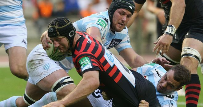 Steve Borthwick: Helped Saracens to victory with first-half try