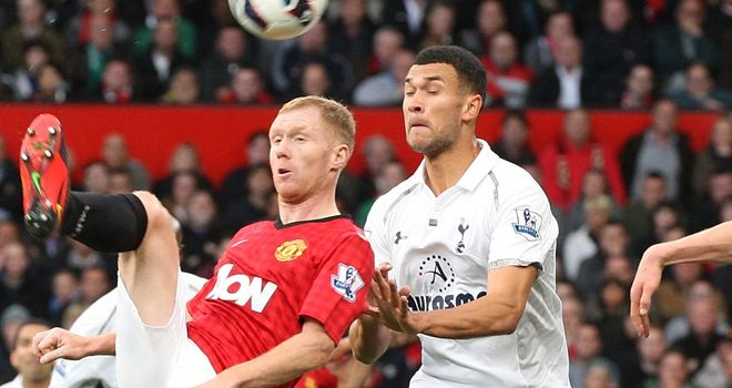 Steven Caulker: Impressed his team-mate William Gallas in win over Manchester United