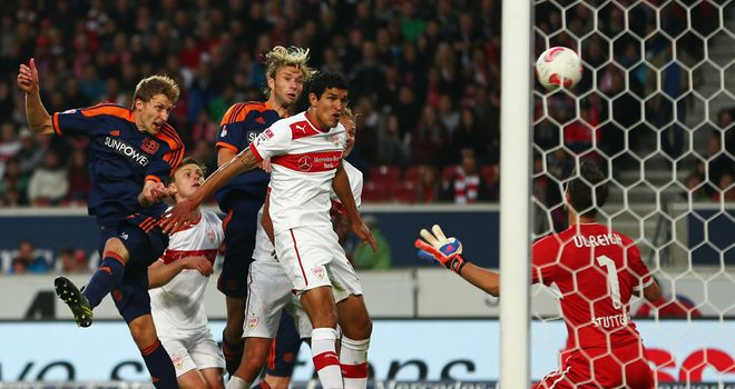 Stefan Kiessling scores his second goal.