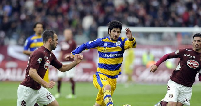 Jaime Valdes in action for Parma.