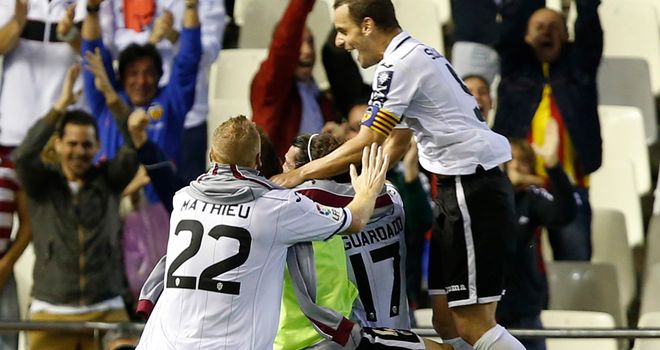 It is joy for Valencia after their winner