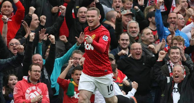 Wayne Rooney: Starred for Manchester United with two goals against Stoke
