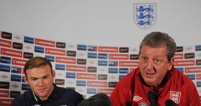 Wayne Rooney Roy Hodgson England press confer 2843321 Finding the yeti is more likely than San Marino beating England, the FA are morally bankrupt, Liverpool eye Yilmaz & Tottenham look at Herrmann