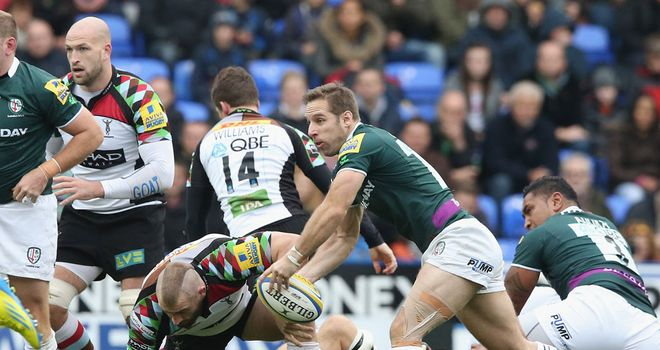 Tomas O'Leary in action against Harlequins in London Irish's 31-28 defeat
