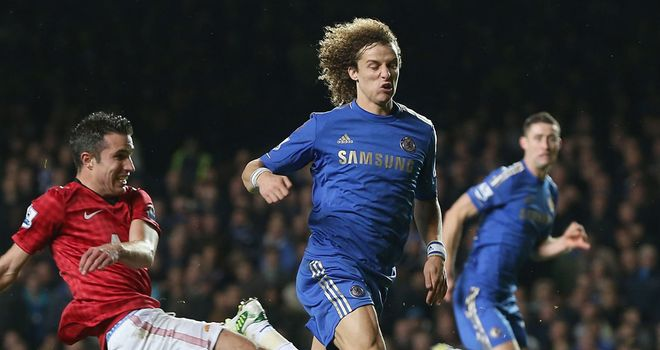 Shaky: David Luiz and Gary Cahill struggled to subdue Robin van Persie