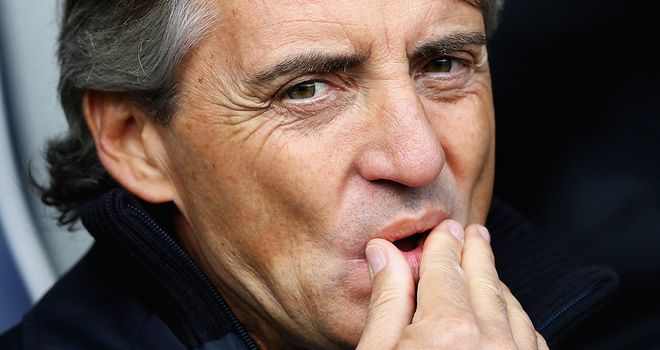 Roberto Mancini: Says Manchester City are not ready to mount a real challenge in the Champions League