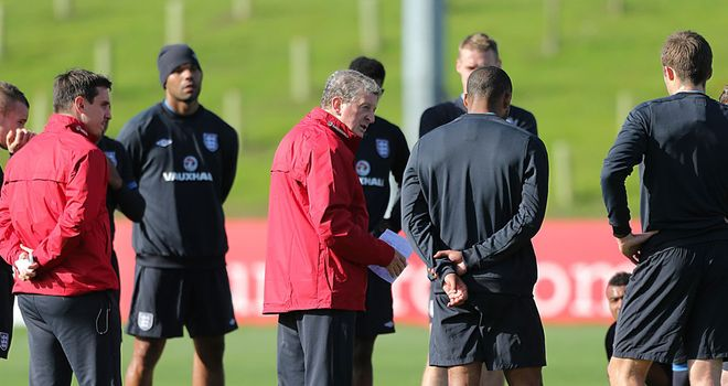 Roy Hodgson: Preparing his England side for World Cup qualifying action