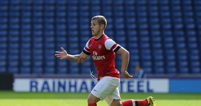 Jack Wilshere: Arsenal midfielder returned to action after 14 months out with an Under-21 outing on Monday afternoon