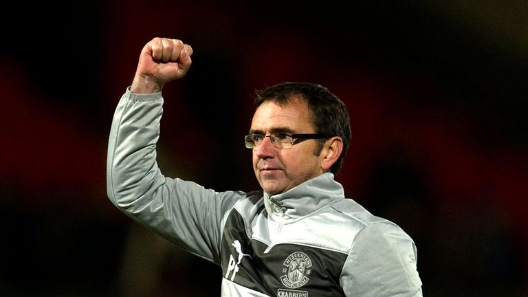 Pat Fenlon: Celebrates victory at St Johnstone