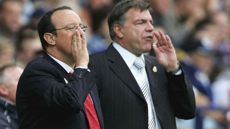 Sam Allardyce: West Ham boss shares the touchline with Rafa Benitez