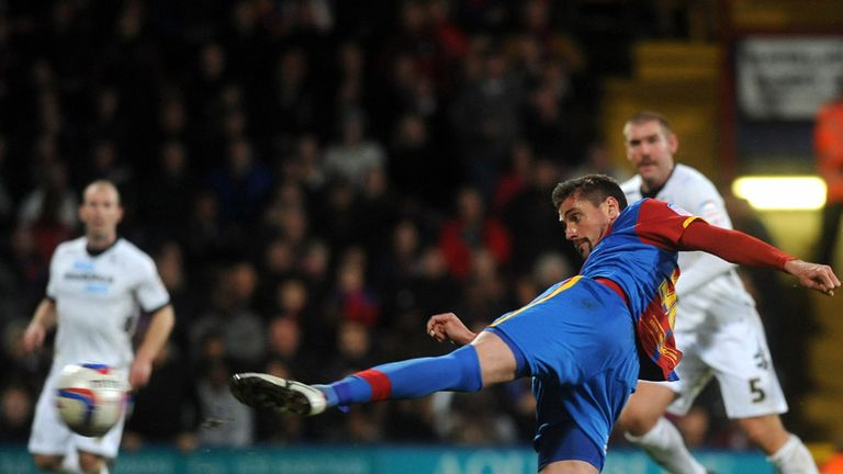 Andre Moritz: Netted two goals to secure Crystal Palace win