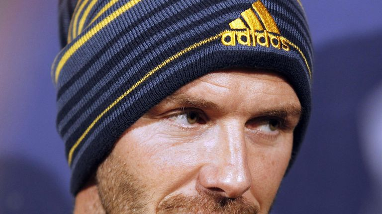 David Beckham: The former England captain is preparing to leave Los Angeles Galaxy