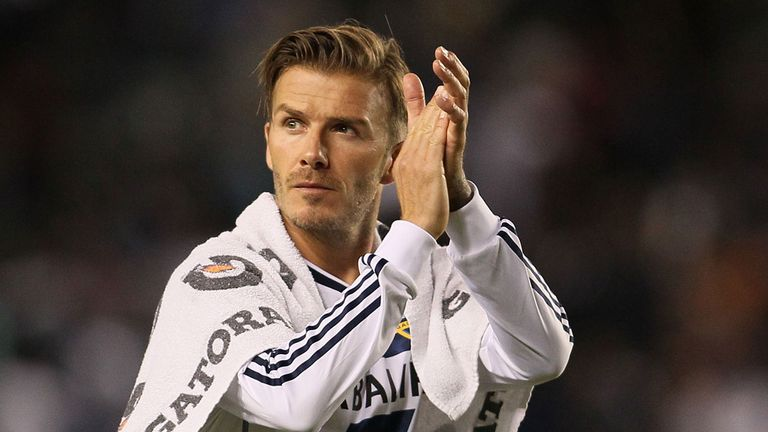 David Beckham: Has been with LA Galaxy for five years