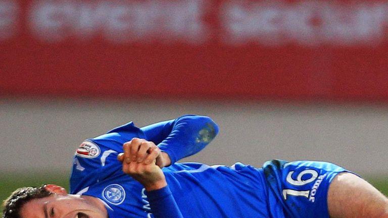 David Robertson: Suffered a broken leg during St Johnstone's 1-0 home defeat to Hibernian