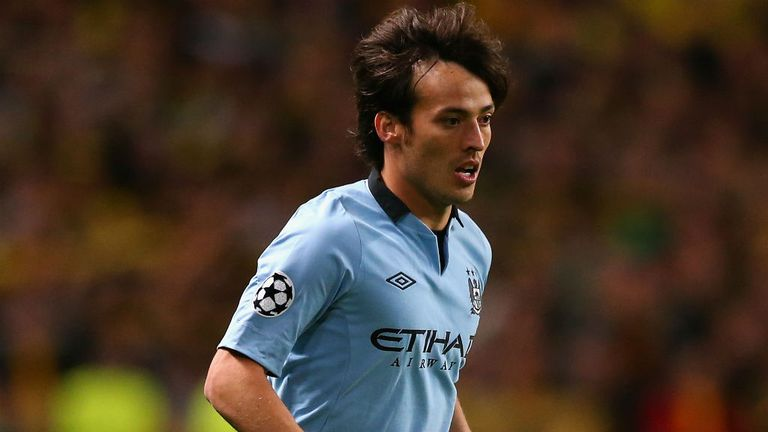 David Silva: The playmaker has been ruled out of meeting with Borussia Dortmund due to a hamstring injury