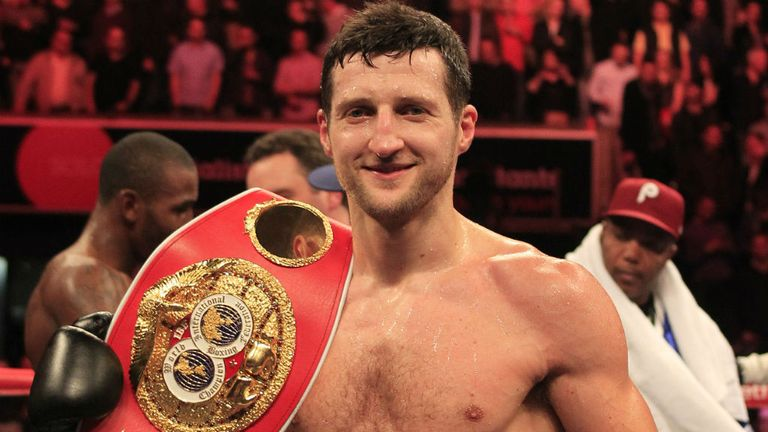 Carl Froch: Put paid to Yusaf Mack at the CapitalFM Arena (photo courtesy of Lawrence Lustig)