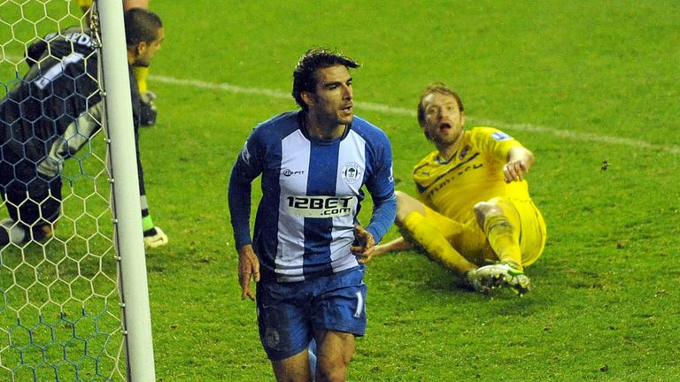 Jordi Gomez: Defended by Wigan manager Roberto Martinez