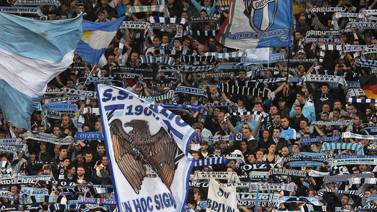 Lazio fans: Involved in violent clashes with Tottenham supporters
